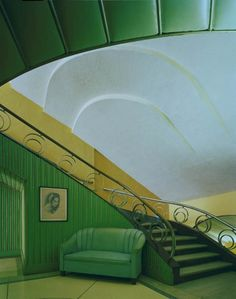 Art Deco Interior ~ Where to put this pin...? all the great detail..?  the funky sofa...?  wherever, I love this space.