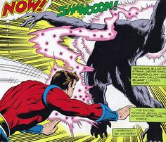"""Get your hands off me, you damned, dirty ape!"" Captain Comet, Gorilla Grodd, Rich Buckler, Secret Society of Super-Villains"