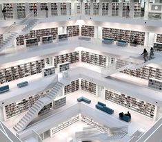 stuttgart modern library, bibliothek i look at this and cant help but think our public facilities are embarrassing at times City Library, Dream Library, Central Library, Future Library, Reading Library, Stuttgart Library, Stuttgart Germany, Hans Scharoun, Beautiful Library