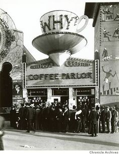 """The MJB - WHY?  Coffee Parlor on """"The Zone"""" at the Panama Pacific International Exposition of 1915."""