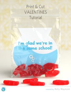 Print & Cut Fishy Valentines by Kelly Wayment #silhouettedesignteam