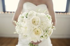 white garden roses wedding - Google Search
