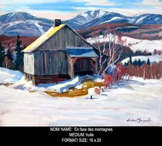 Helmut Langeder Cabin, Paintings, House Styles, Home Decor, Art, Homemade Home Decor, Paint, Cabins, Painting Art
