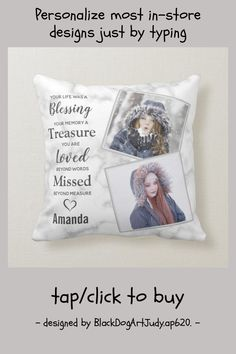 In Loving Memory Photo Memorial Throw Pillow - tap/click to get yours right now! #ThrowPillow #in #loving #memory, #memorial #pillow, Remembrance Quotes, Accent Pillows, Throw Pillows, Funeral Gifts, Beyond Words, Photo Memories, In Loving Memory, A Blessing, Love Words
