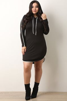 5ade459222bc9f Piping Trim Hoodie Dress- Rosie Grace Boutique - Come shop casual and  comfortable women s clothing