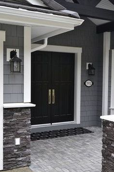New Home Construction - Gray and White - contemporary - entry - vancouver - Kylie M Interiors