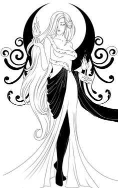 For my bestie Bonnie Liang (her goddess is Hecate) go half bloods! Pagan Art, Hekate, Sketches, Drawings, Hecate, Goddess Tattoo, Art, Book Of Shadows, Color
