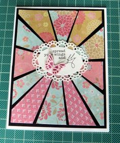 How To Make A Contrast Starburst Card | papermilldirect