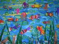 poissons arts plastiques école maternelle Preschool Lessons, Pirates, Kindergarten, Fish, Crafts, Painting, Stage, Sailor Theme Nursery, Nursery School