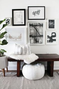 How about adding a touch of monochrome to your walls?