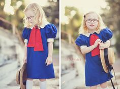 {52 Dresses} Project! Madeline dress! Perfect for Halloween or dress-up! More pics of the dress on the blog!
