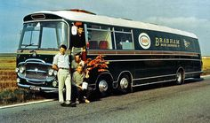 Brabham Coach Transporter. The team members in the photo are: Roy Billington, Hughie Absolom, Cary Taylor and Bob Ilich. Taken on ?