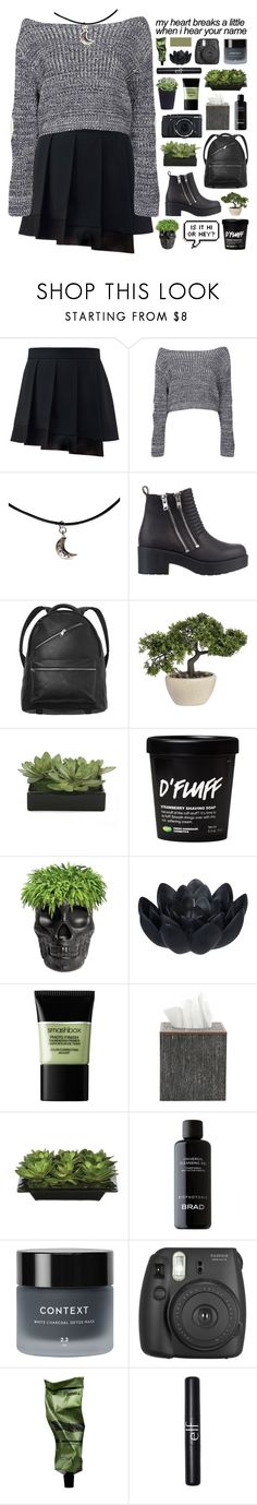 """100 DEGREES"" by embrxce ❤ liked on Polyvore featuring Boohoo, River Island, Monki, Lux-Art Silks, Qeeboo, Sia, Fujifilm, Smashbox, Pigeon & Poodle and Context"
