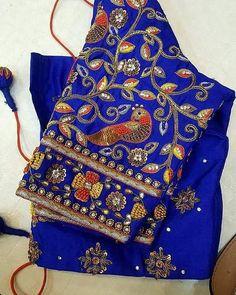 Five Best Saree Blouse Designs – Fashion Asia Wedding Saree Blouse Designs, Saree Blouse Neck Designs, Saree Wedding, Kids Blouse Designs, Hand Work Blouse Design, Hand Designs, Maggam Work Designs, Sumo, Sleeve Designs