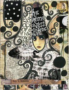 Teesha Moore journal page.