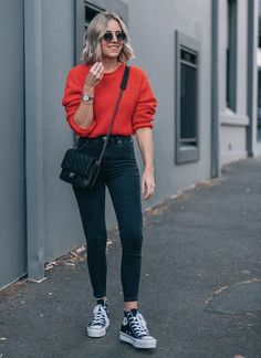 20 Casual Fall Outfit Ideas To Copy Right Now 05 Casual Fall Outfits, Winter Fashion Outfits, Spring Outfits, Trendy Outfits, Casual Weekend Outfit, Casual Ootd, Popular Outfits, Autumn Outfits, Casual Jeans