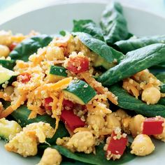 Doesn't this Warm Garbanzo and Quinoa Salad look delish?! Get the quick 25 min. recipe here.