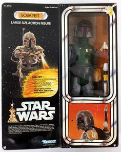 "1977 Kenner Star Wars Boba Fett 13"" Figure DEC 31, 2016"