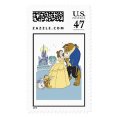 Beauty & the Beast Belle and the Beast Dancing Postage