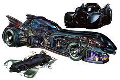 batmobile | Batmobile (1989) - Illustration: Alex Pang via www.debutart.com. Sooooo cool the best of all the Batmobile next to the tumbler
