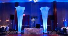 Finest Event Lighting - fabric light columns