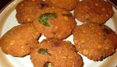 Mupparupu Vadai (Three Dal Vada) Serve as an evening snack.