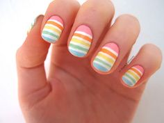 10 Blank Canvases: Summer pastel rainbow