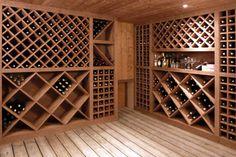 Cave à vin rustique, design, moderne.