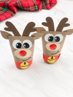 Santa Crafts, Reindeer Craft, Holiday Crafts, Christmas Family Feud, Kids Christmas, Christmas Crafts For Kids To Make, Christmas Activities, Recycled Crafts Kids, Toilet Paper Roll Crafts