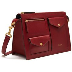 Mulberry Cherwell Satchel ($865) ❤ liked on Polyvore featuring bags, handbags, maroon, mulberry handbags, satchel purses, satchel bag, utility bag and square purse