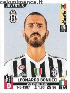 Calciatori 2015-2016: Fronte Figurina n. 303 Leonardo Bonucci