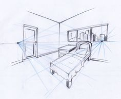 Perspective Room, Perspective Drawing Lessons, Drawing Interior, Interior Design Sketches, Still Life Drawing, Minimalist Photography, Architecture Drawings, Art Plastique, Drawing Sketches