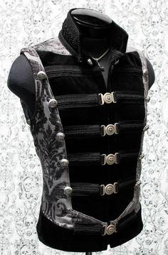 Another look but I like the darker better. SHRINE GOTHIC VAMPIRE DOMINION VEST JACKET VICTORIAN PIRAT VELVET GOTH STEAMPUNK