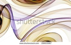 Abstract wave on white background. - stock photo