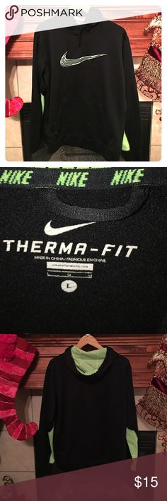 🆕 Listing Men's Nike Therma Fit Hoodie Great condition except the small flaw in picture 4. Looks like an ink stain but it's very small and the location is on the inner arm so it won't be seen. Price reflects flaw. Nike Shirts Sweatshirts & Hoodies