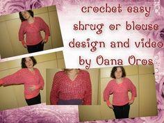 How to Crochet a Girls Bolero (Shrug) - English Crochet Tutorial - YouTube