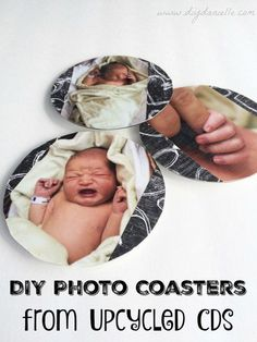easy cd upcycle photo coasters, crafts, decoupage, repurposing upcycling