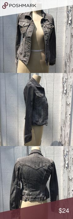Aeropostale Gray Denim Distressed Jacket XS Aeropostale gray distressed denim Jean jacket - Sz XS. In excellent condition Aeropostale Jackets & Coats Jean Jackets