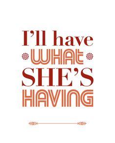 When Harry Met Sally, Typography Print, Quote Print, Movie Quote, Decorative… Favorite Movie Quotes, Famous Movie Quotes, Film Quotes, Book Quotes, Funny Quotes, Favorite Things, Great Quotes, Quotes To Live By, When Harry Met Sally