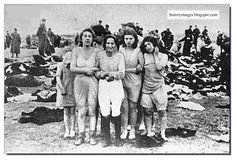 Jewish women before their execution in Liepeja at the hands of Einsatzgruppen killers, Latvia. Sheer insanity. Hatred is terrible.