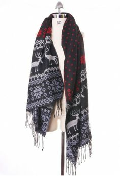 Reversible Classic Christmas Scarf