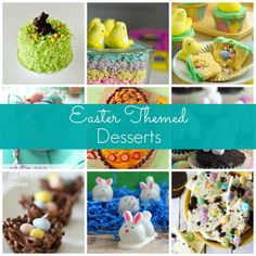 Lots of ideas for Easter desserts - so cute!!