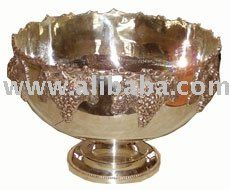 "Wine Coolers  Grape Design Punch Bowl, Weight 4. 400gm, 14"" Dia. The price is 52 + VAT + Postage"
