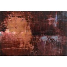 "East Urban Home Merlot Sunset by Michelle Oppenheimer Painting Print on Wrapped Canvas Size: 26"" H x 40"" W x 0.75"" D"
