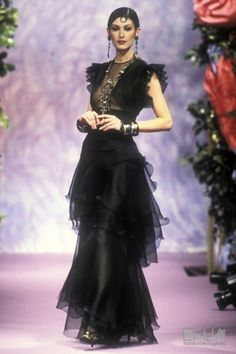 christian lacroix - Search Results - Europeana Collections 80s Fashion, Couture Fashion, Runway Fashion, Fashion Show, Vintage Fashion, Fashion Design, Christian Lacroix, Dolce & Gabbana, Sarah Jessica Parker