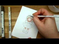 Distress Ink Colouring Tutorial - Hair (Magnolia) by Jenny - YouTube