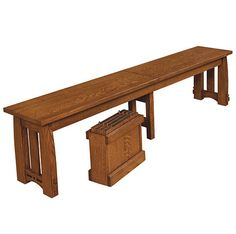 Solid Wood Amish Made Colebrook Dining Bench