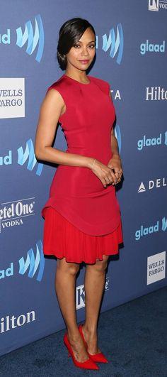 3d085306f5 Zoe Saldana s 20 most fearless fashion choices. Nicole Murphy