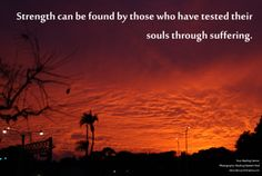 strength may be found in suffering