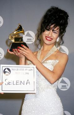 Selena with her Grammy
